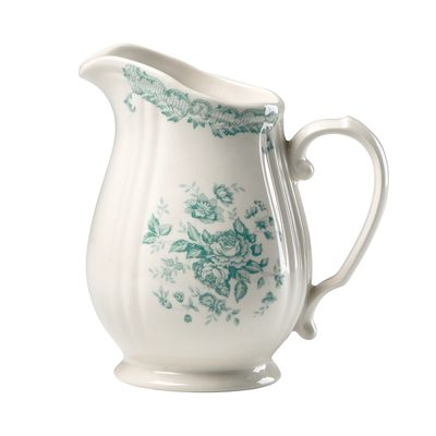 Jug turquoise roses