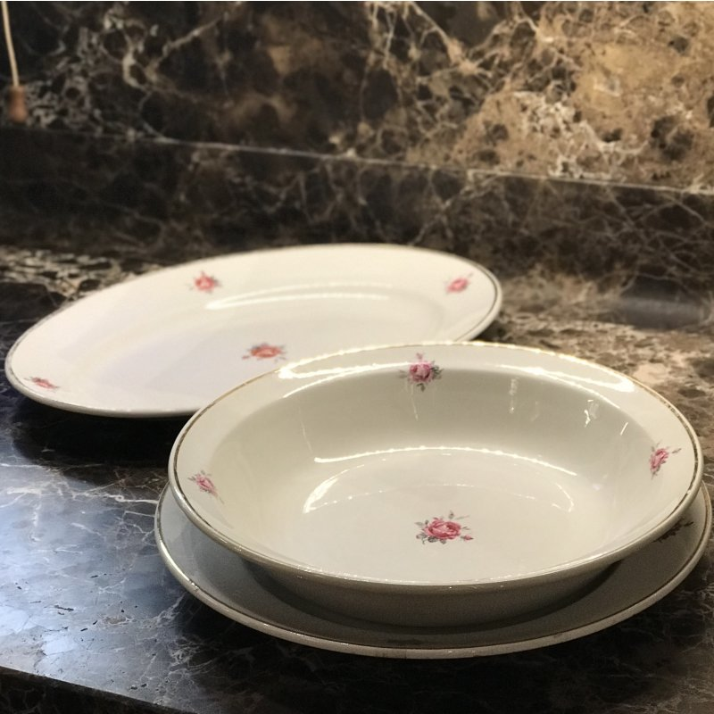 Set of 3 serving platters